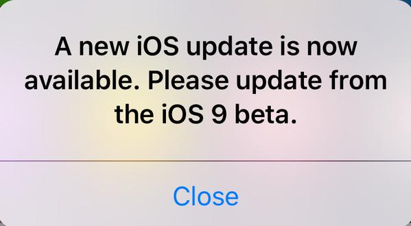 iOS 9 Beta Update