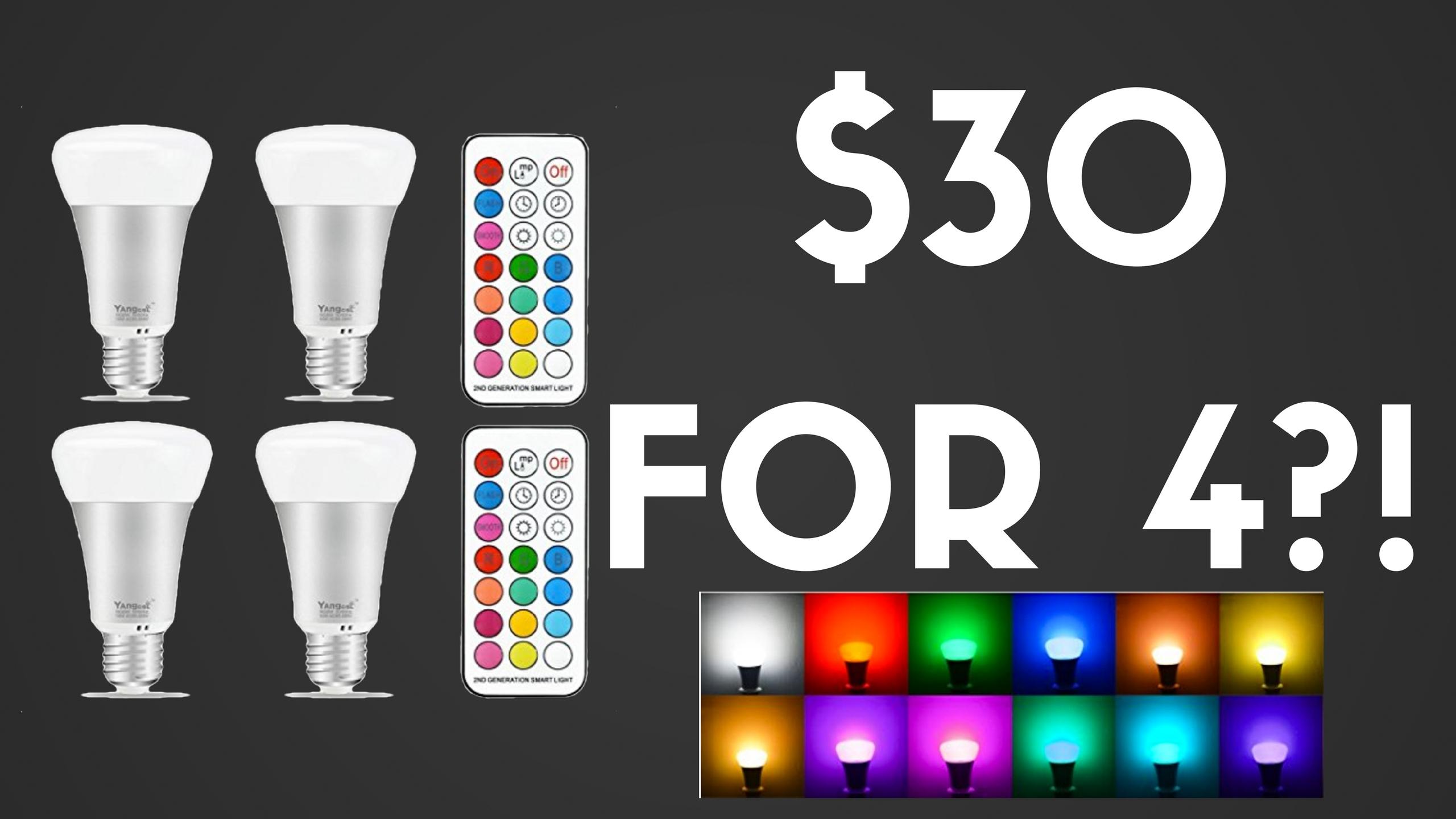 4 LED Bulbs Under $30